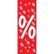 Mennyezetről függeszthető papírtábla, % jel