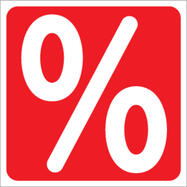 Matrica, százalékjel, szögletes