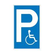 Parkolóhely és megállást tiltó táblák műanyagból
