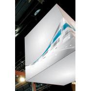 """Digitálisan nyomott banner feszítő keret rendszer """"Cube""""-hoz"""