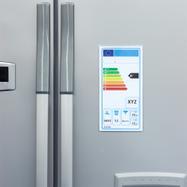 Védőtok energiafogyasztási címkéhez, mágnescsíkokkal