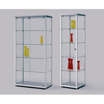 Kiállítási vitrin float üvegből
