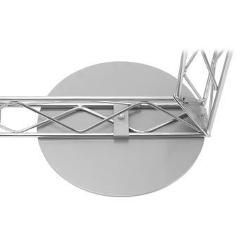 Rögzítés talajra - kerek acéllemez - Gitter-Leicht-rendszerhez
