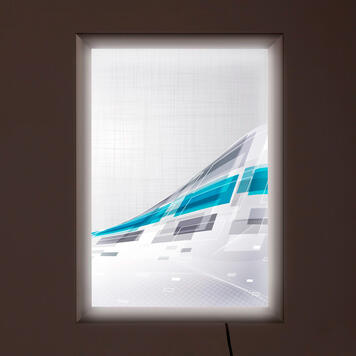 """LED világító plakátkeret """"Simple"""", kétoldalas"""