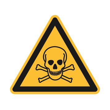 Mérgező anyagra figyelmeztető tábla [W016]