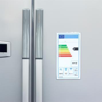 Védőtok energiafogyasztási címkéhez, öntapadó