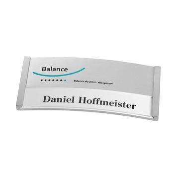 """Névtábla """"Balance Alu-Print"""" járulákos nyomdai költséggel"""