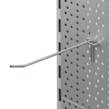 Perforált fali szimpla kampó 4 mm