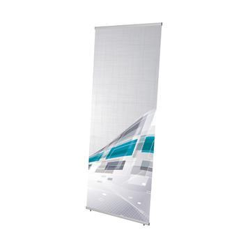 "Digitálisan nyomtatott banner az ""Easy"" banner displayhez"