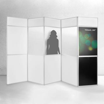 """Összehajtható fal """"360"""" nyomtatható panelekkel"""
