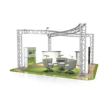 Kiállítási stand FD 33, 6.000 mm x 2.500 mm x 6.000 mm (Sz x Ma x Mé)