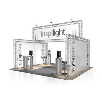 Kiállítási stand FD 24, 5.000 mm x 2.500 mm / 3.780 mm x 4.000 mm (Sz x Ma x Mé)