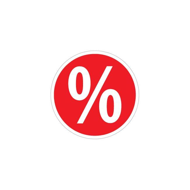 Matrica, százalékjel, kerek