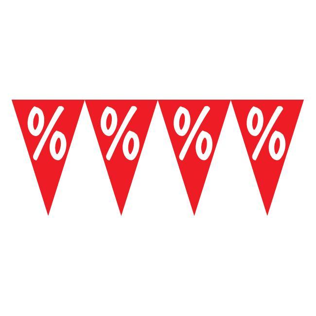 Zászlófüzér, százalékjel