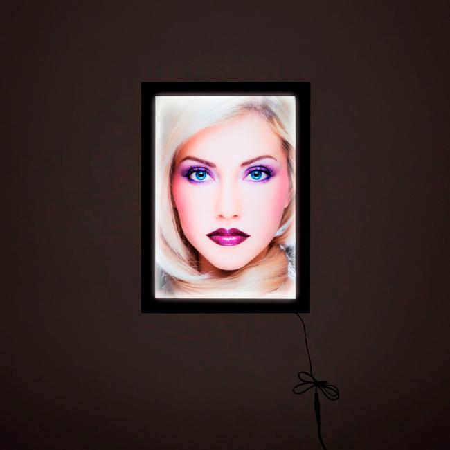 """LED világító plakátkeret """"Ecomag"""", fekete, egyoldalas"""