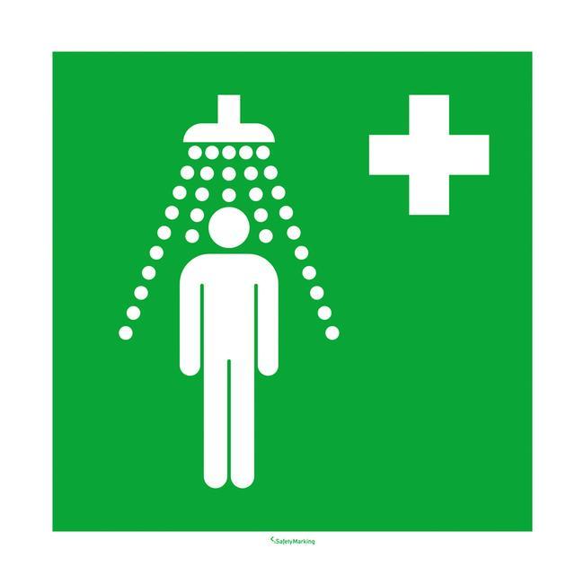 Sürgősségi zuhany tábla