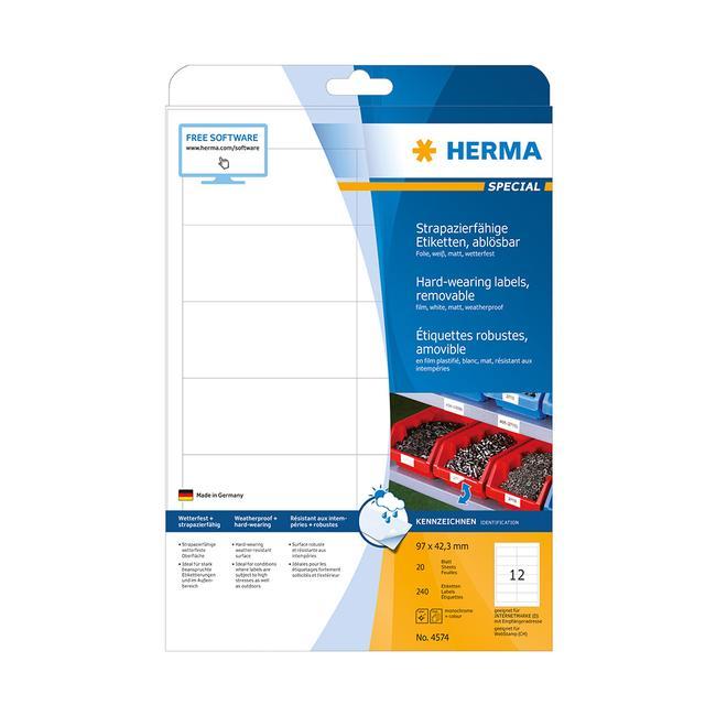 Időjárásálló etikettek, Herma 4572