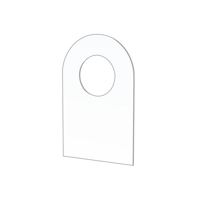 Utólag szerelhető kampó ø 10 mm lyukkal blisztercsomagolásokhoz