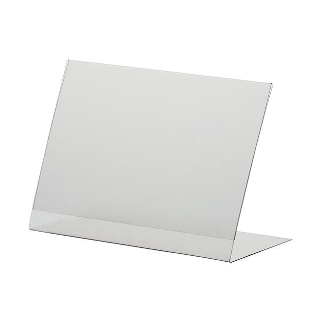 L alakú laptartó PVC-ből, DIN A6-tól DIN A8 méretig, álló vagy fekvő formátumban