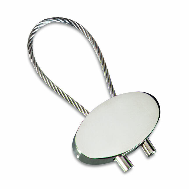 """Kulcstartó kábel  """"Keyring Cable"""", ezüst fényű"""