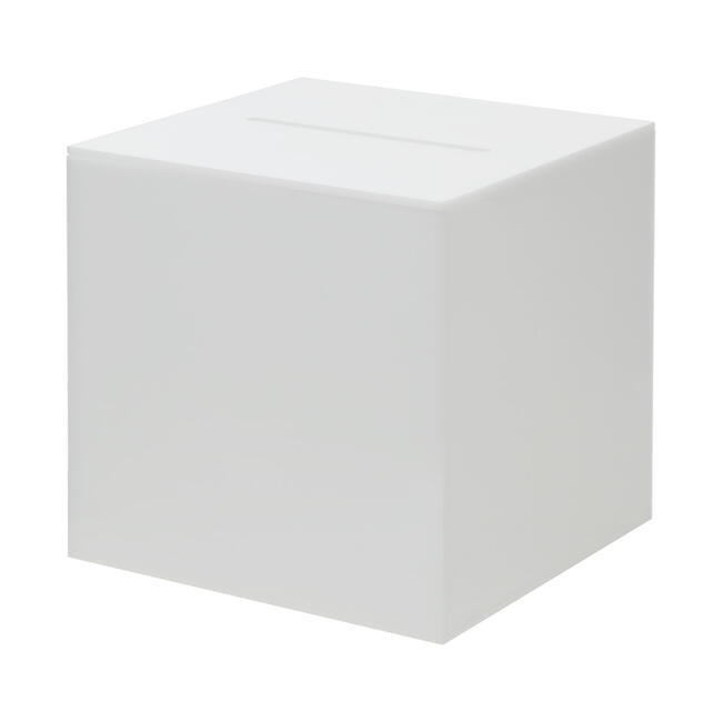 Akril sorsjegygyűjtő doboz, opálos