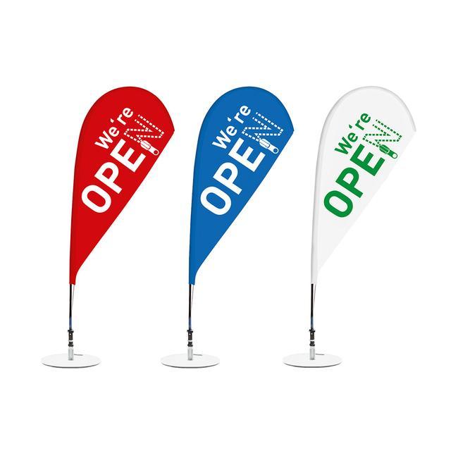 """""""Open"""" feliratú strandzászló"""