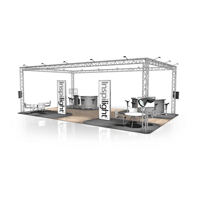 Kiállítási stand FD 33, 10.000 mm x 3.500 mm x 6.000 mm (Sz x Ma x Mé)