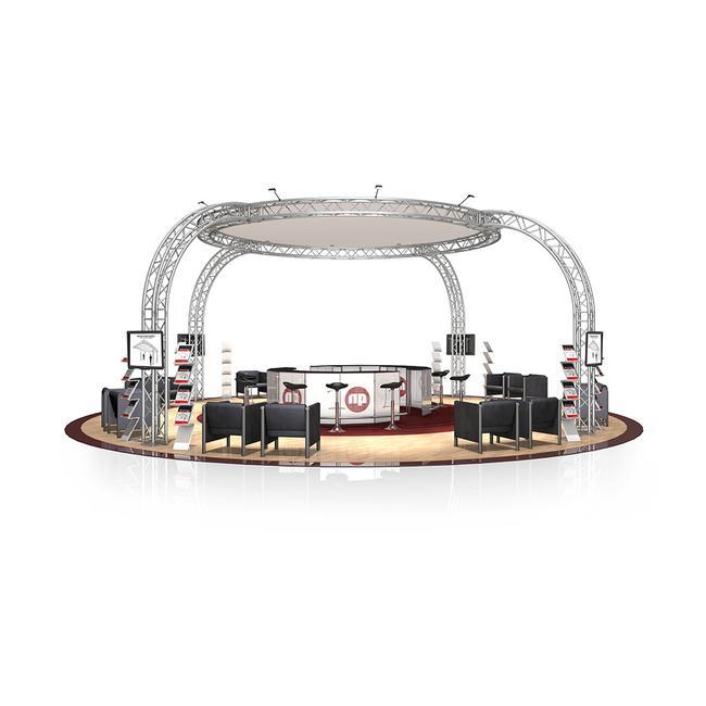 Kiállítási stand FD 34, 8.290 mm x 4.000 mm x 8.290 mm (Sz x Ma x Mé)
