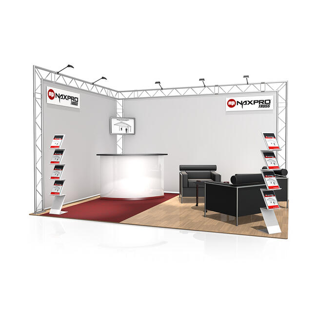 Kiállítási stand FD 22, 4.000 mm x 2.500 mm x 3.000 mm (Sz x Ma x Mé)