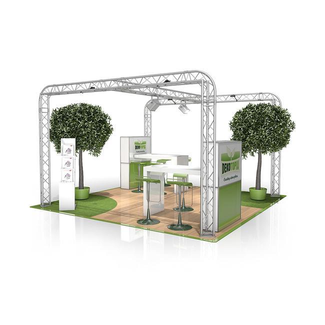 Kiállítási stand FD 23, 4000 mm x 2500 mm x 4000 mm (Sz x Ma x Mé)