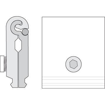 Keretösszekötő elem feszítőkeret 32 köztes profilhoz