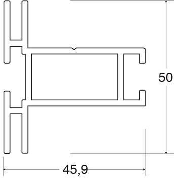 """Keretprofil """"Stretch Rahmenprofil 50"""""""