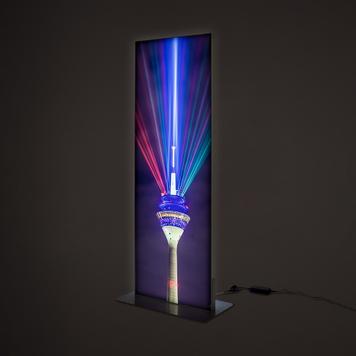 LED feszítőkeret oszlop, kétoldalas
