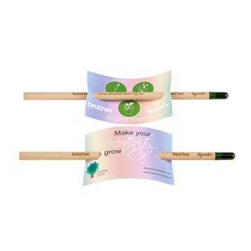 """Ceruza """"Sprout"""", reklámkártyával"""