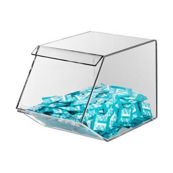Cukorka kínáló akrilüvegből