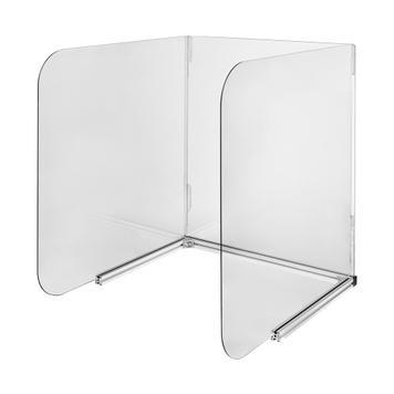 Mobil, 3 oldalú asztali higiéniai védőfal