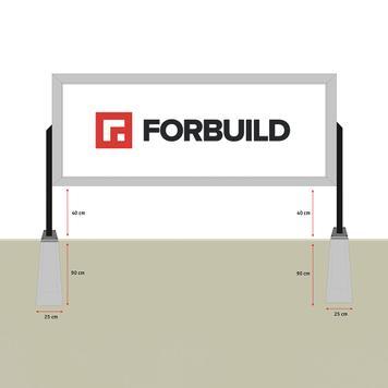 bannergear® állvány betonlábbal, kétoldalas