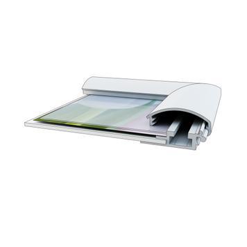Pattintós keret, 25 mm-es profil, ezüstre eloxált, sarokillesztés/lekerekített sarkak