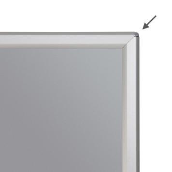 Felállítható pattintós keret, profil: 14 mm