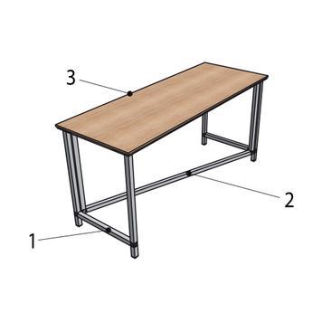 """""""Construct"""" flexibilis bemutatóasztal"""