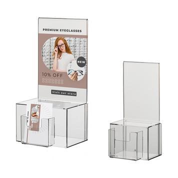 Sorsjegygyűjtő doboz plakáttartóval DIN A4 – A5