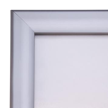 """Esővízálló  megállító tábla """"RT"""", 35 mm profil, sarokillesztés, ezüstre eloxált"""