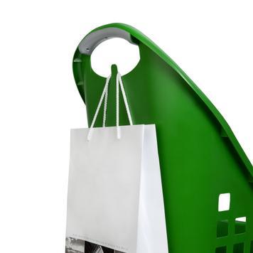 Műanyag Flexicart bevásárlókocsi 64 lt, húzható