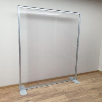 Válaszfal alumínium feszítőkeretből átlátszó PVC bannerrel